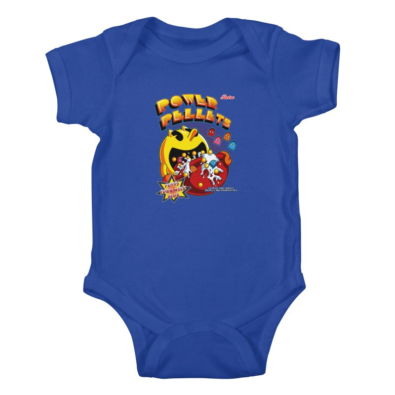 Power Pellets Kids Baby Bodysuit by Stephen Hartman Illustration Shop