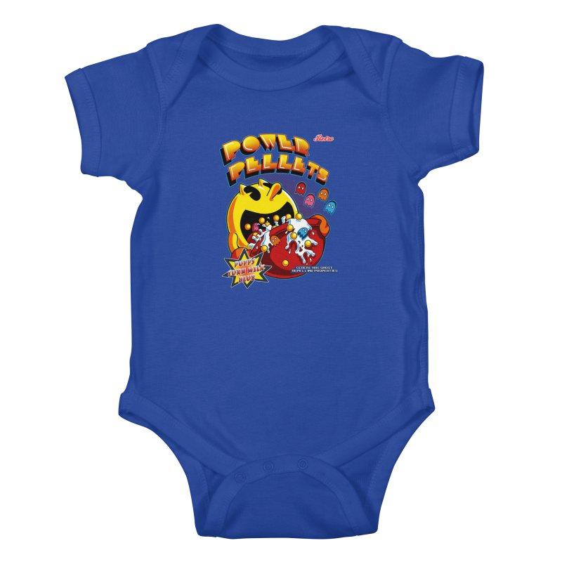 Power Pellets Kids Baby Bodysuit by Stephen Hartman Illustration Shop