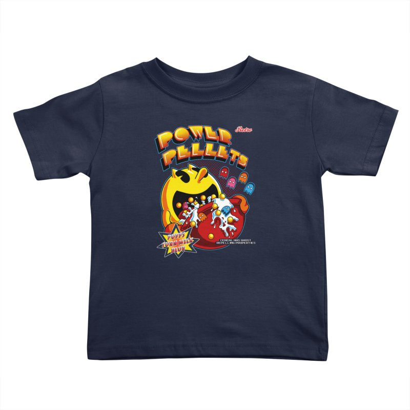 Power Pellets Kids Toddler T-Shirt by Stephen Hartman Illustration Shop