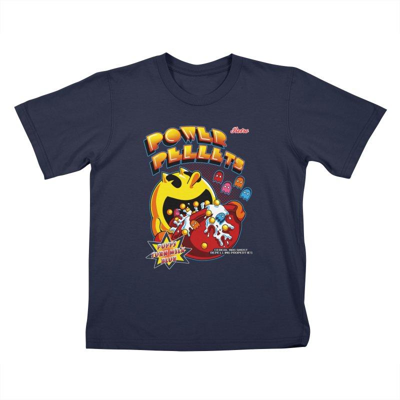 Power Pellets Kids T-Shirt by Stephen Hartman Illustration Shop