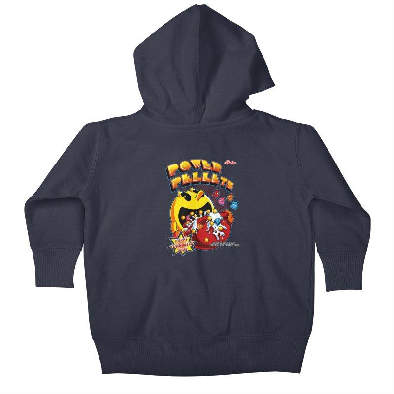Power Pellets Kids Baby Zip-Up Hoody by Stephen Hartman Illustration Shop