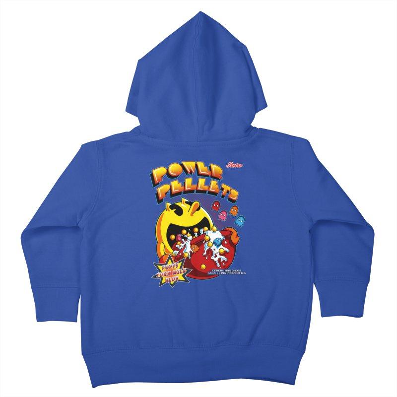 Power Pellets Kids Toddler Zip-Up Hoody by Stephen Hartman Illustration Shop