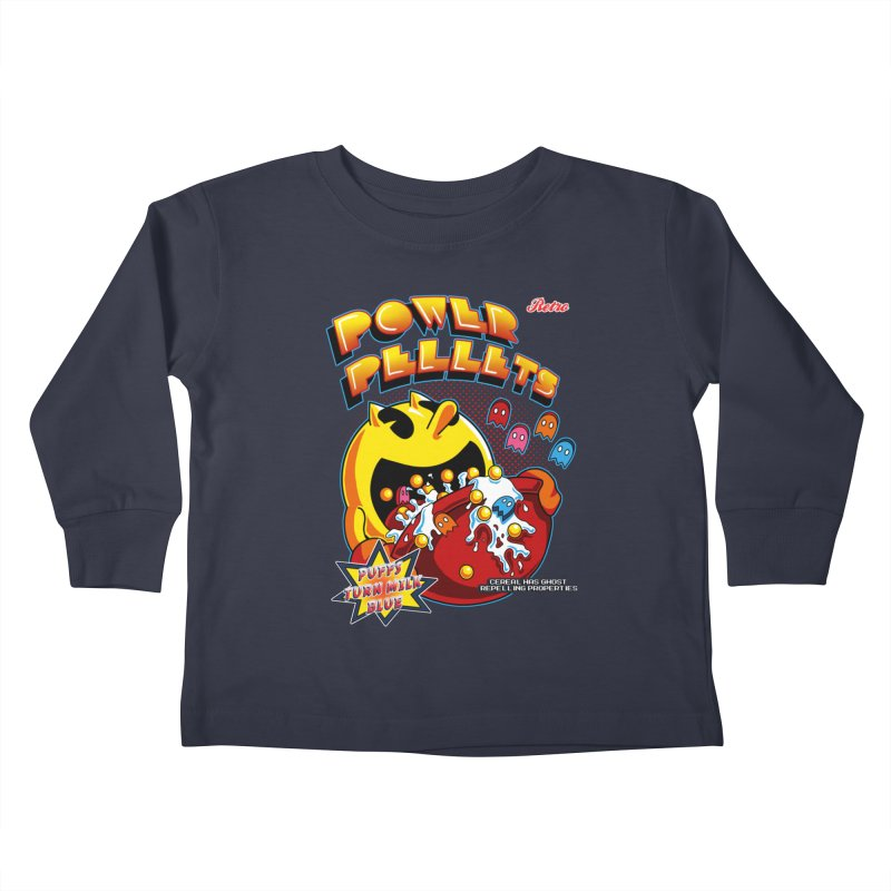 Power Pellets Kids Toddler Longsleeve T-Shirt by Stephen Hartman Illustration Shop