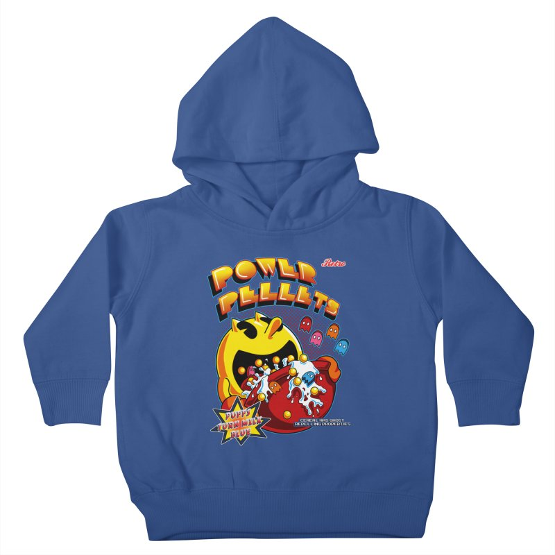Power Pellets Kids Toddler Pullover Hoody by Stephen Hartman Illustration Shop