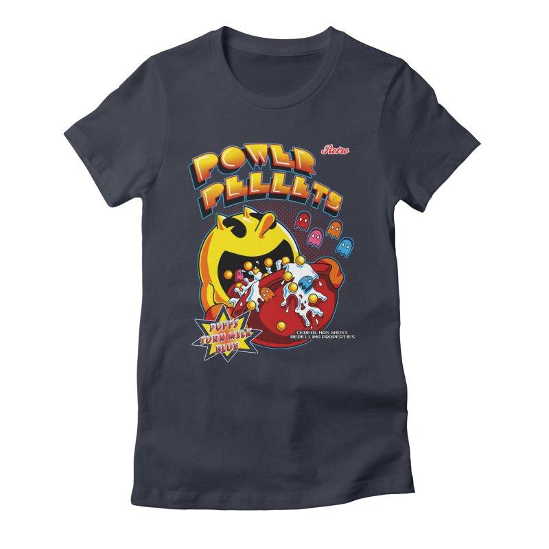 Power Pellets Women's Fitted T-Shirt by Stephen Hartman Illustration Shop