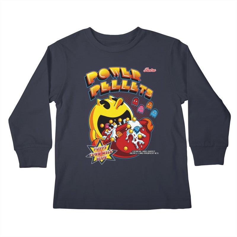 Power Pellets Kids Longsleeve T-Shirt by Stephen Hartman Illustration Shop