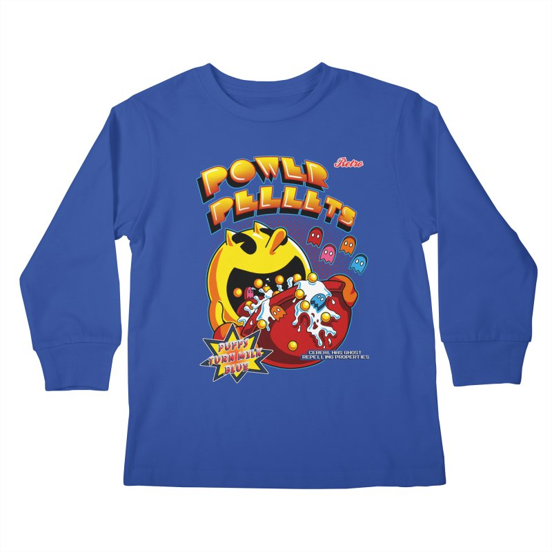 Power Pellets Kids Longsleeve T-Shirt by Stephen Hartman Illustration Shop