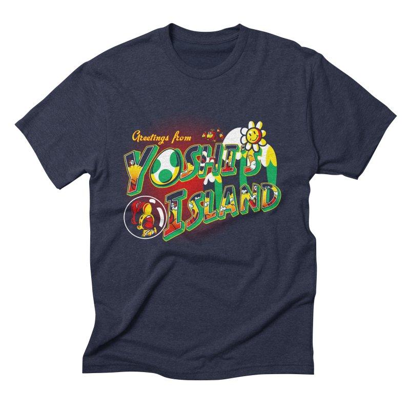 Plumber Paradise Men's Triblend T-Shirt by Stephen Hartman Illustration Shop