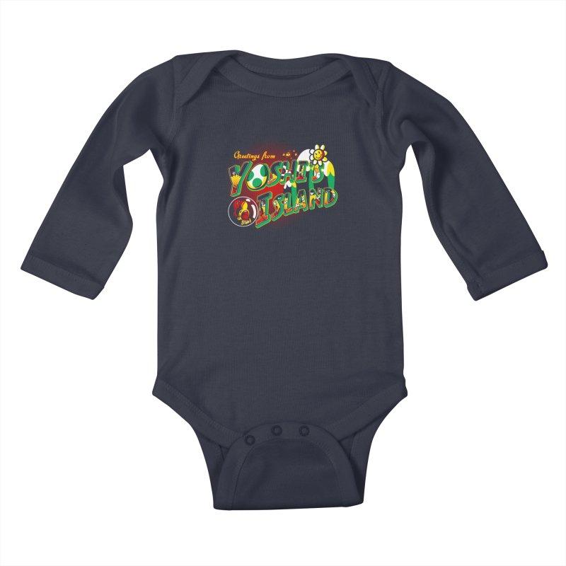 Plumber Paradise Kids Baby Longsleeve Bodysuit by Stephen Hartman Illustration Shop
