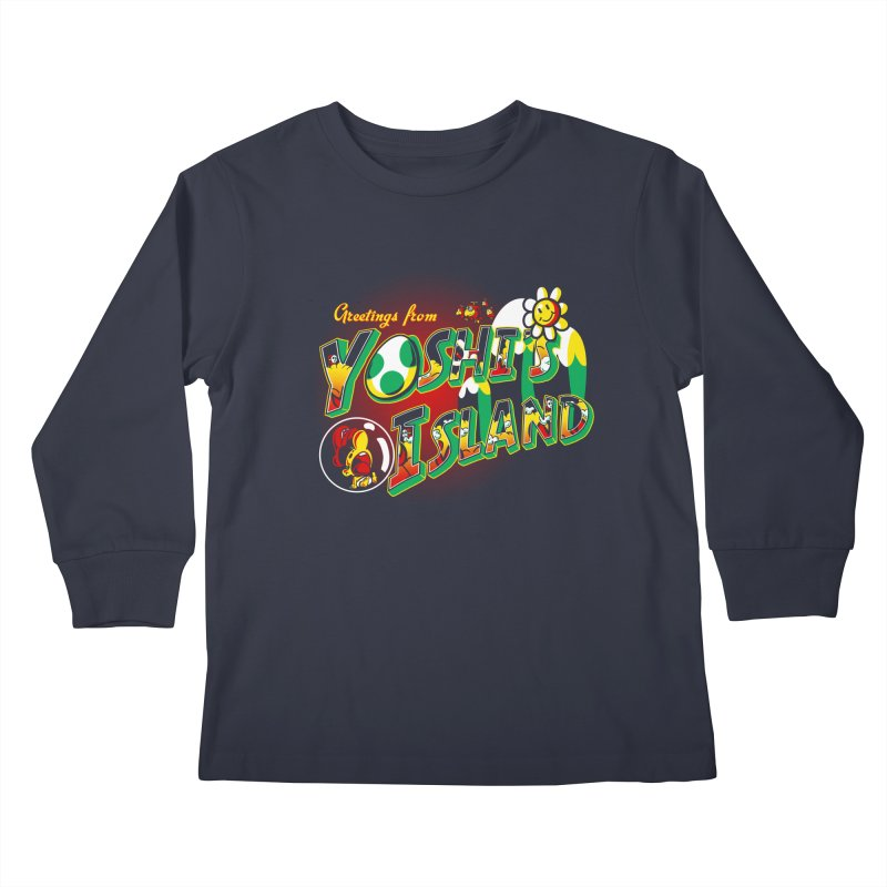 Plumber Paradise Kids Longsleeve T-Shirt by Stephen Hartman Illustration Shop