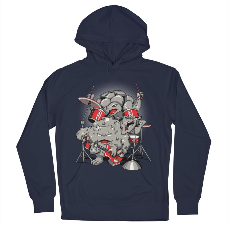 Rock & Roll Men's French Terry Pullover Hoody by Stephen Hartman Illustration Shop