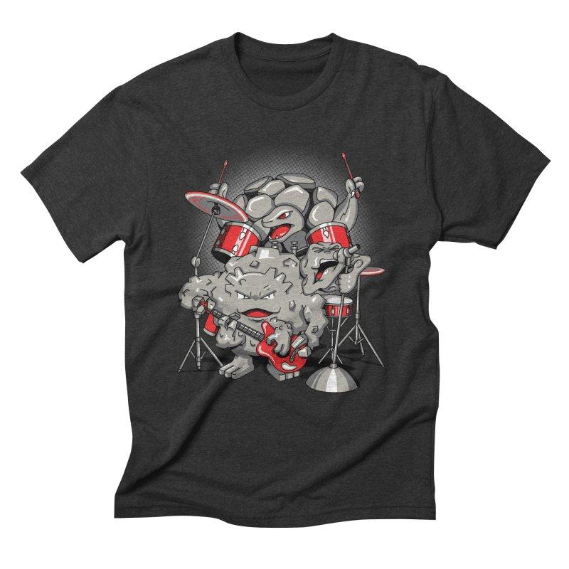 Rock & Roll Men's Triblend T-shirt by Stephen Hartman Illustration Shop