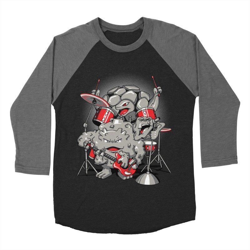 Rock & Roll Women's Baseball Triblend T-Shirt by Stephen Hartman Illustration Shop
