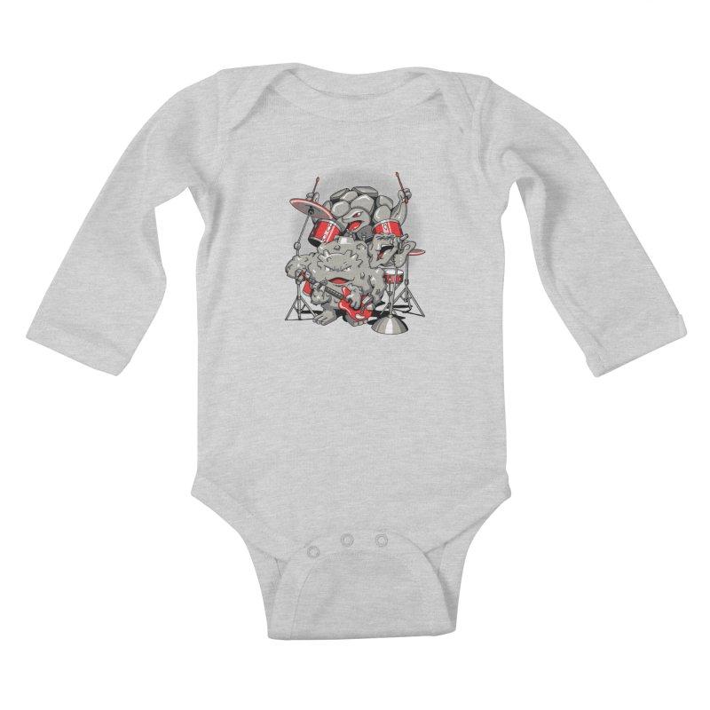 Rock & Roll Kids Baby Longsleeve Bodysuit by Stephen Hartman Illustration Shop