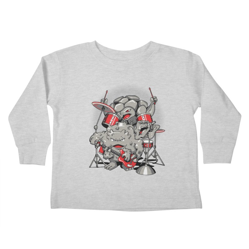 Rock & Roll Kids Toddler Longsleeve T-Shirt by Stephen Hartman Illustration Shop