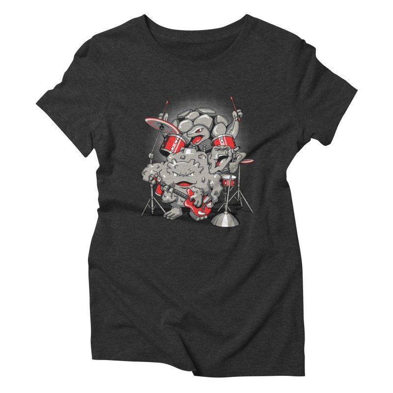 Rock & Roll Women's Triblend T-Shirt by Stephen Hartman Illustration Shop