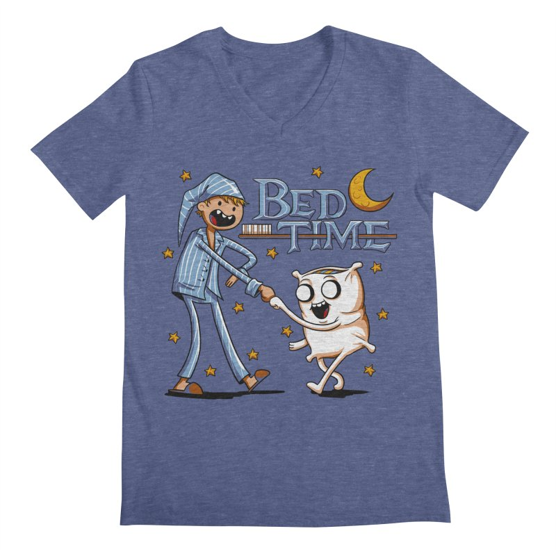 Bed Time Men's V-Neck by Stephen Hartman Illustration Shop