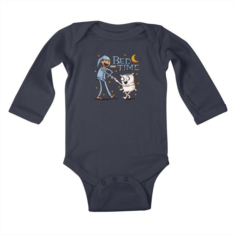 Bed Time Kids Baby Longsleeve Bodysuit by Stephen Hartman Illustration Shop