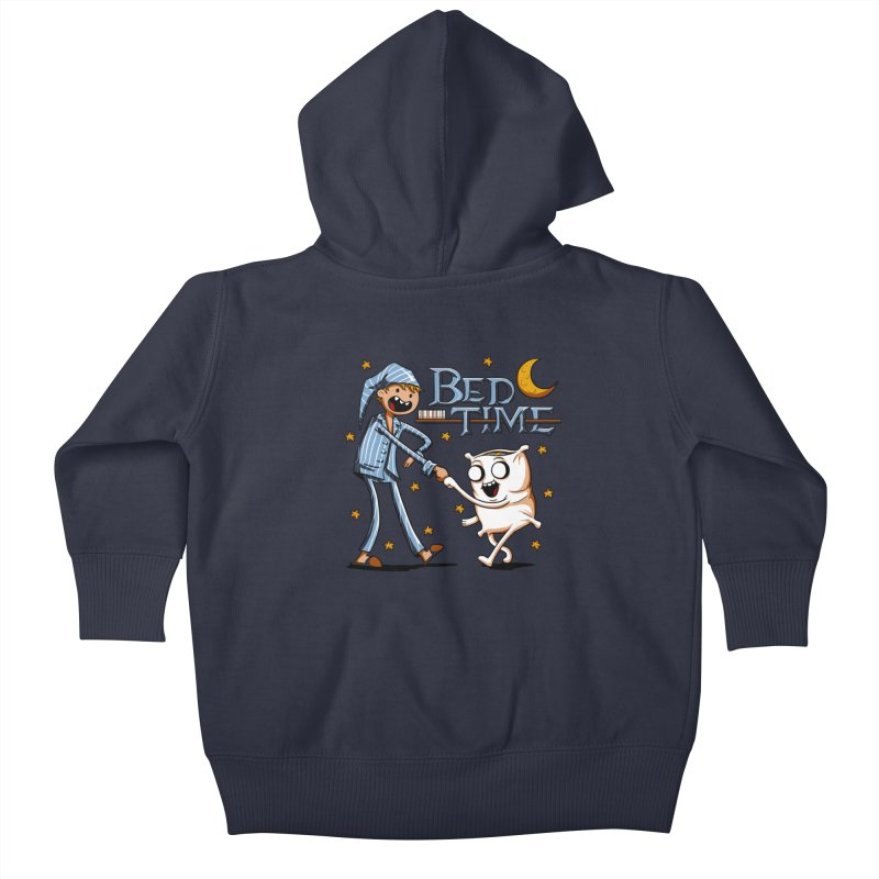 Bed Time Kids Baby Zip-Up Hoody by Stephen Hartman Illustration Shop