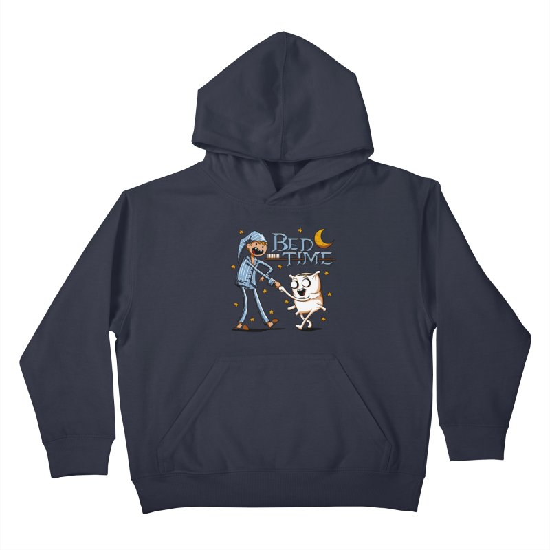 Bed Time Kids Pullover Hoody by Stephen Hartman Illustration Shop