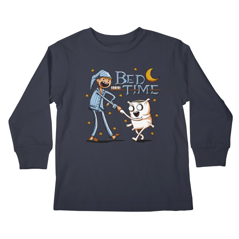 Bed Time Kids Longsleeve T-Shirt by Stephen Hartman Illustration Shop