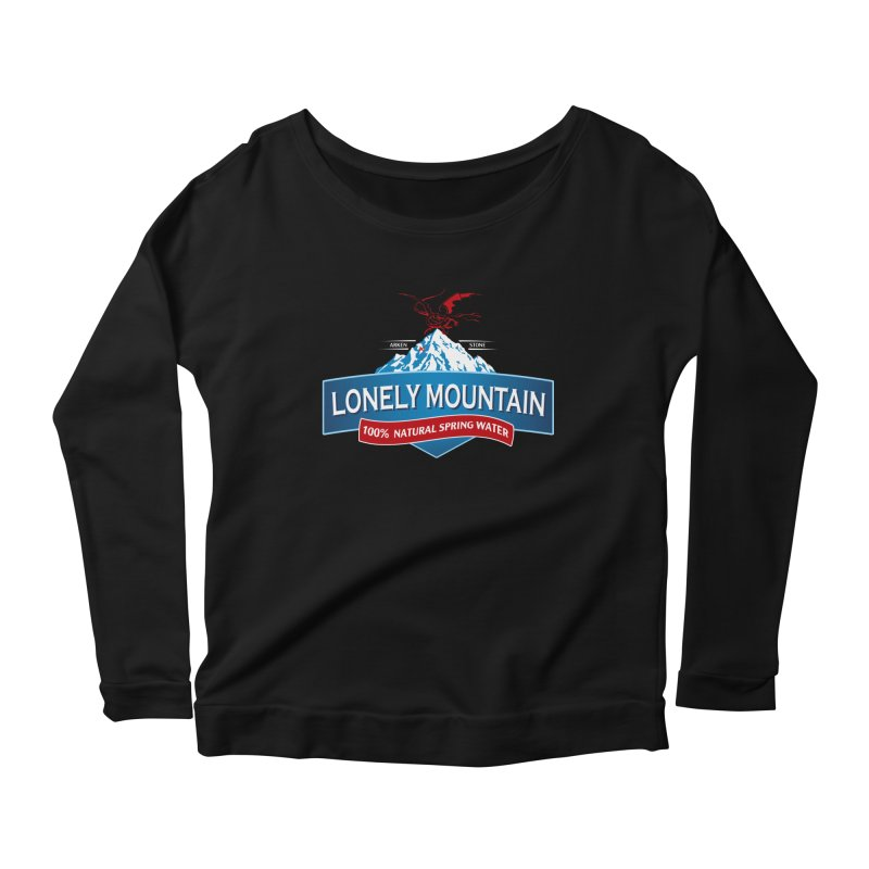 An Unexpected Beverage Women's Longsleeve Scoopneck  by Stephen Hartman Illustration Shop