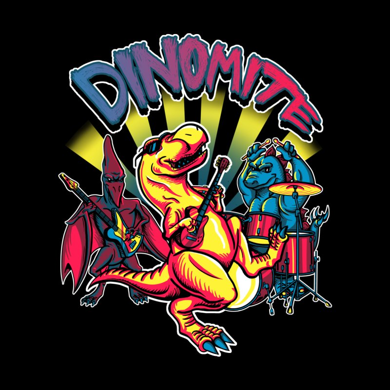 Dinomite Men's Baseball Triblend T-Shirt by Stephen Hartman Illustration Shop