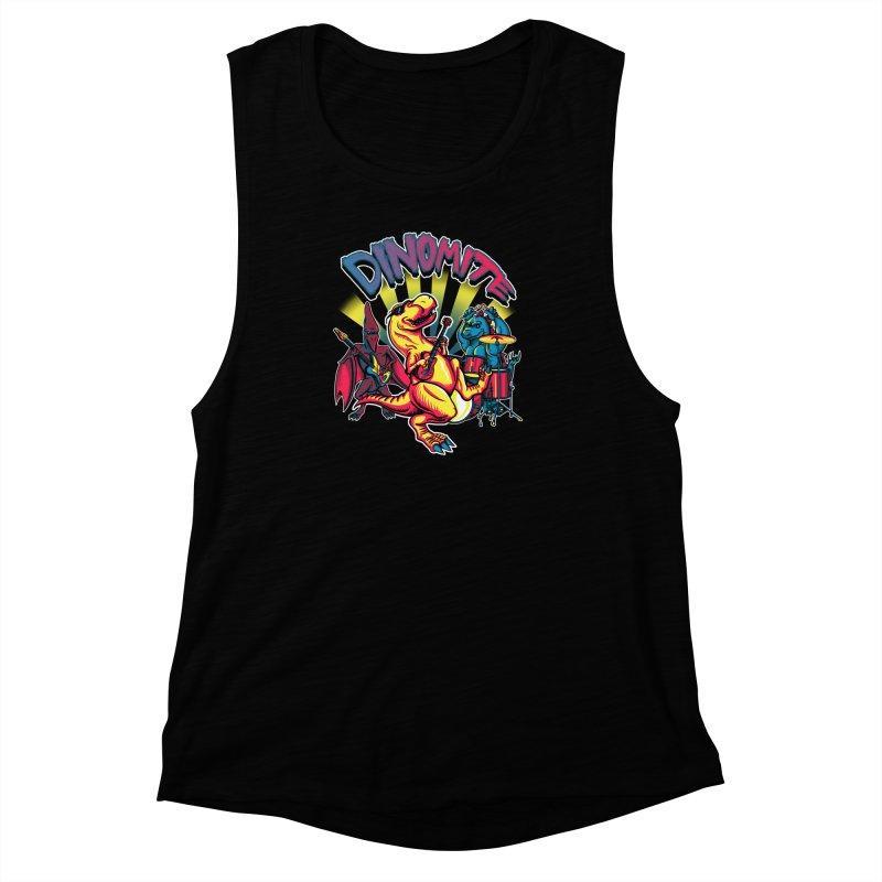 Dinomite Women's Muscle Tank by Stephen Hartman Illustration Shop