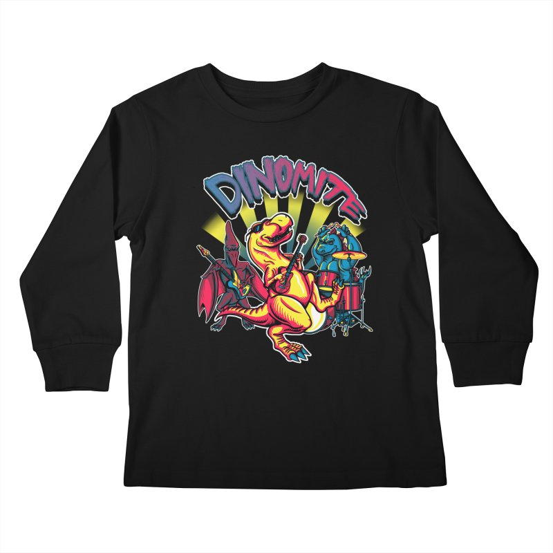 Dinomite Kids Longsleeve T-Shirt by Stephen Hartman Illustration Shop