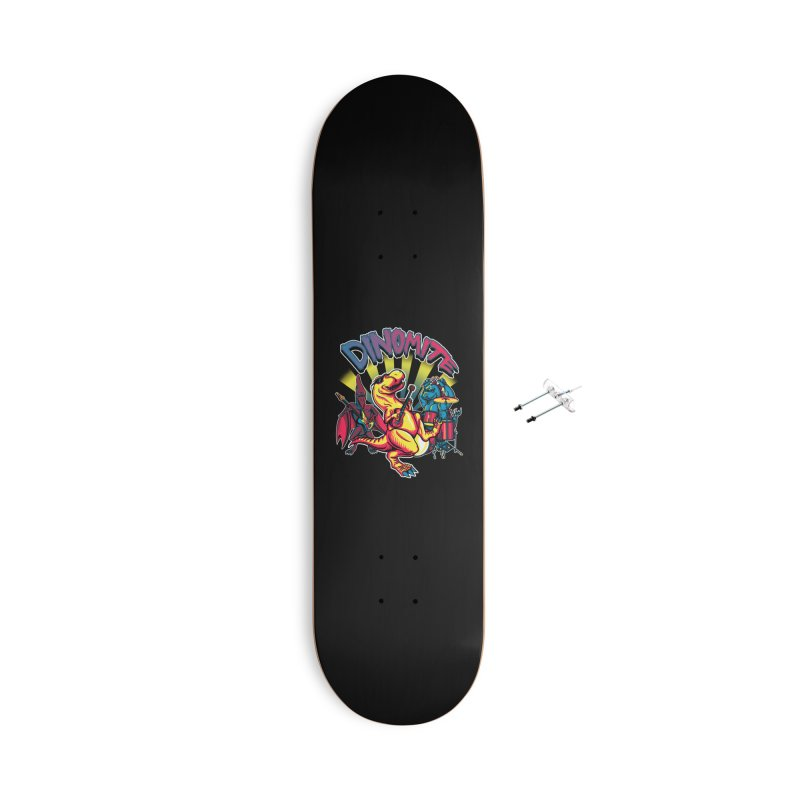 Dinomite Accessories With Hanging Hardware Skateboard by Stephen Hartman Illustration Shop