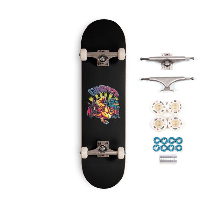 Dinomite Accessories Complete - Premium Skateboard by Stephen Hartman Illustration Shop
