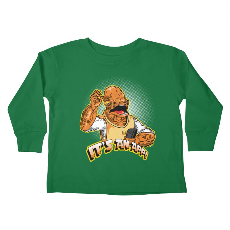 It's an App!! Kids Toddler Longsleeve T-Shirt by Stephen Hartman Illustration Shop