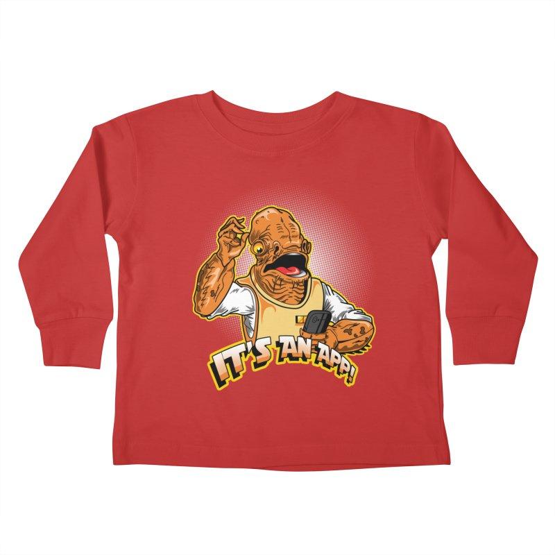 It's an App!! Kids Toddler Longsleeve T-Shirt by Stephen Hartman Illustration Shop