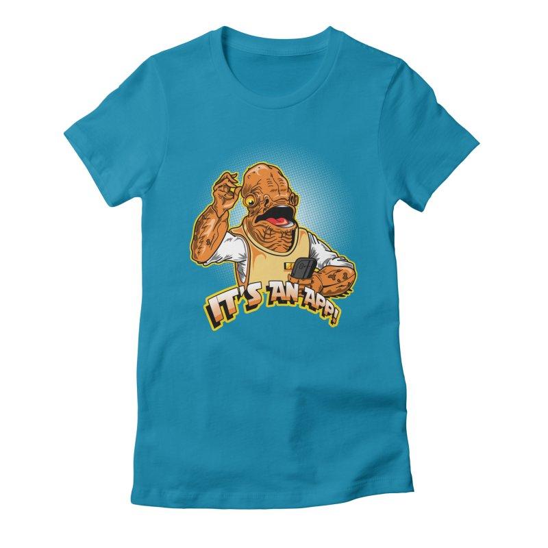 It's an App!! Women's Fitted T-Shirt by Stephen Hartman Illustration Shop