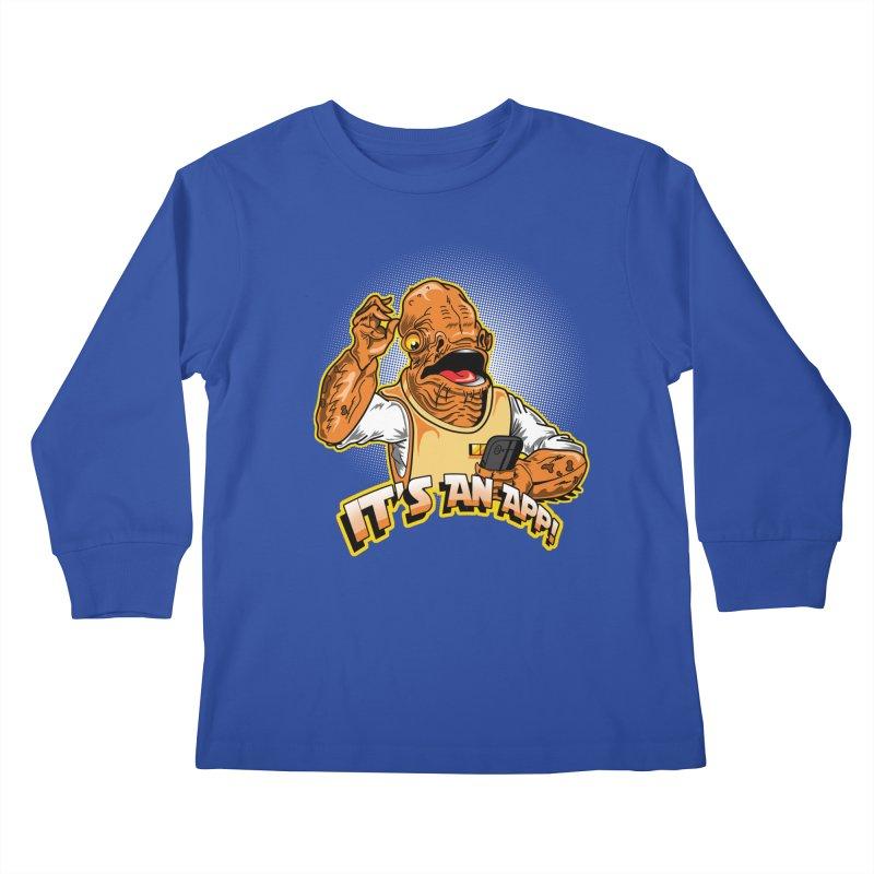 It's an App!! Kids Longsleeve T-Shirt by Stephen Hartman Illustration Shop