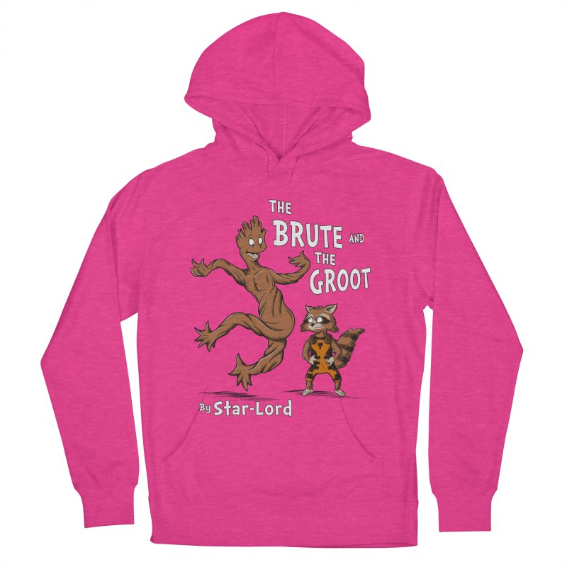 The Brute and The Groot Women's Pullover Hoody by Stephen Hartman Illustration Shop