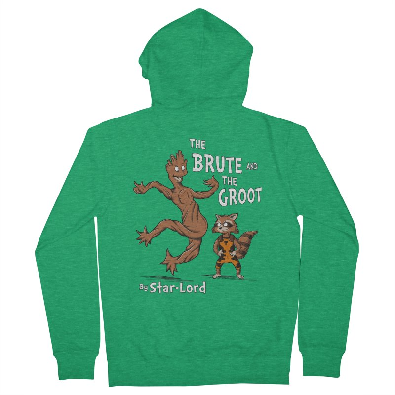 The Brute and The Groot Women's Zip-Up Hoody by Stephen Hartman Illustration Shop