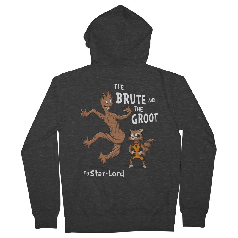 The Brute and The Groot Men's Zip-Up Hoody by Stephen Hartman Illustration Shop