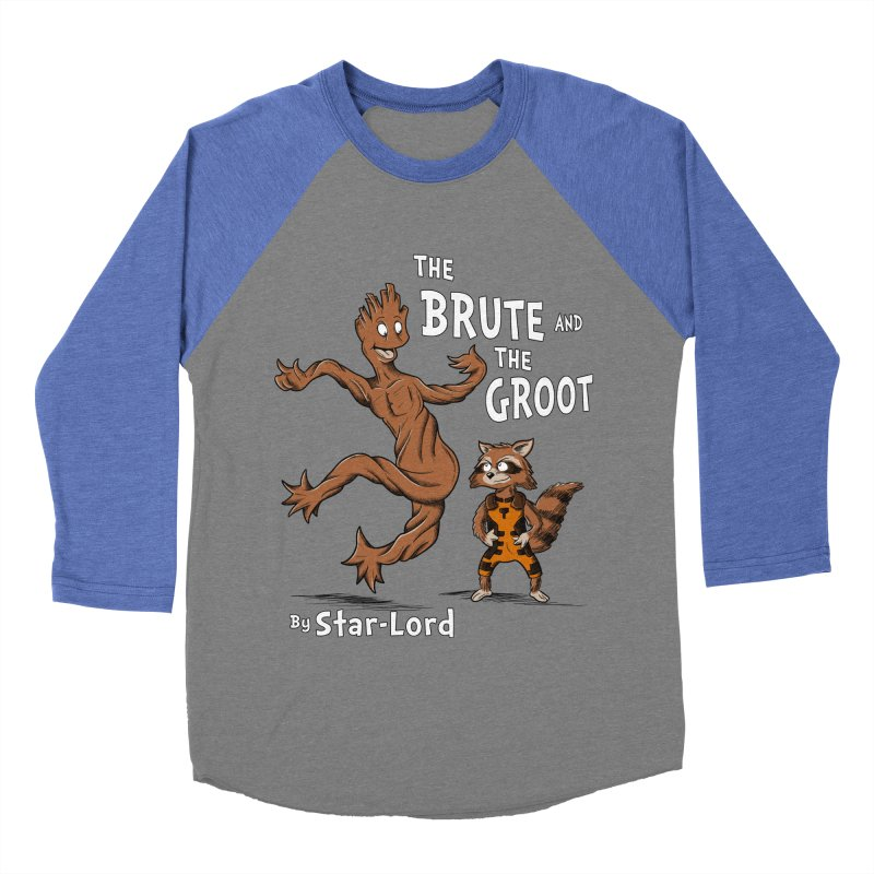 The Brute and The Groot Women's Baseball Triblend T-Shirt by Stephen Hartman Illustration Shop