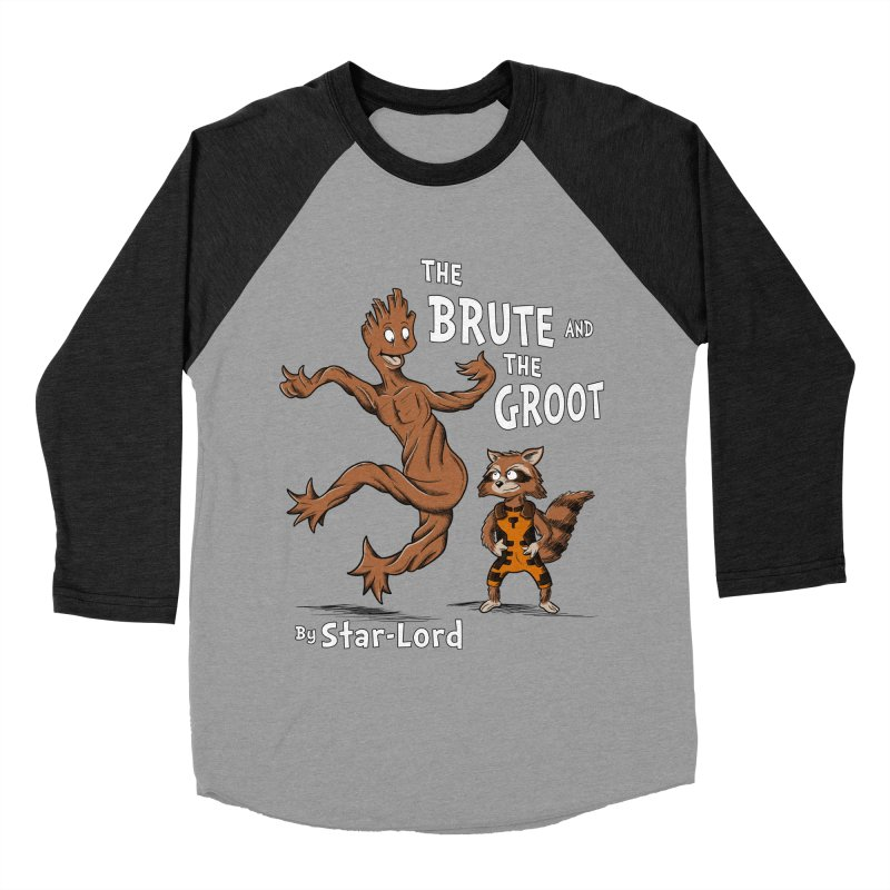 The Brute and The Groot Men's Baseball Triblend T-Shirt by Stephen Hartman Illustration Shop