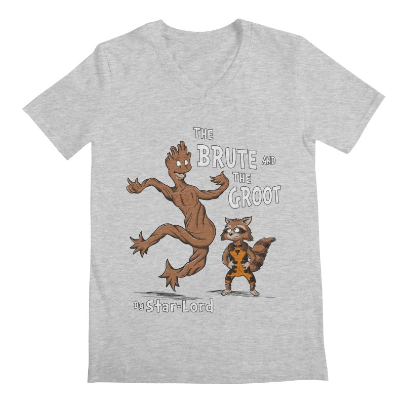 The Brute and The Groot Men's V-Neck by Stephen Hartman Illustration Shop