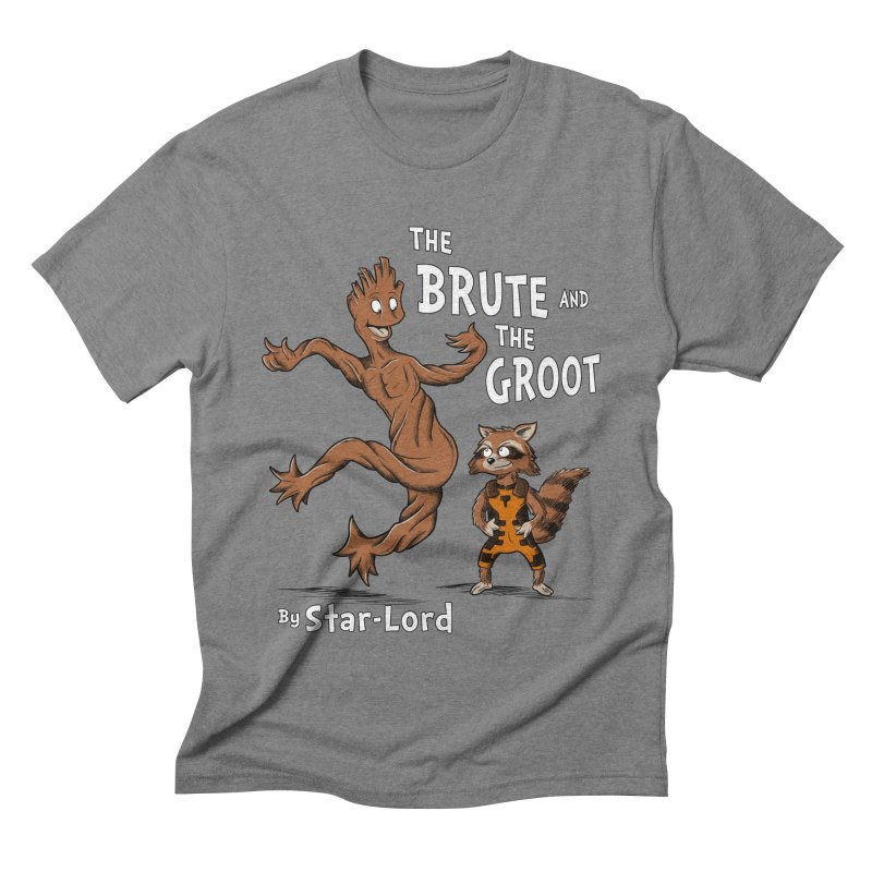The Brute and The Groot Men's Triblend T-shirt by Stephen Hartman Illustration Shop