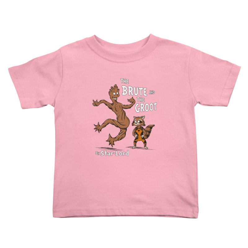 The Brute and The Groot Kids Toddler T-Shirt by Stephen Hartman Illustration Shop