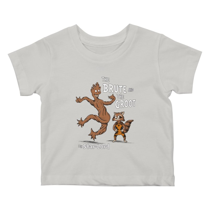 The Brute and The Groot Kids Baby T-Shirt by Stephen Hartman Illustration Shop