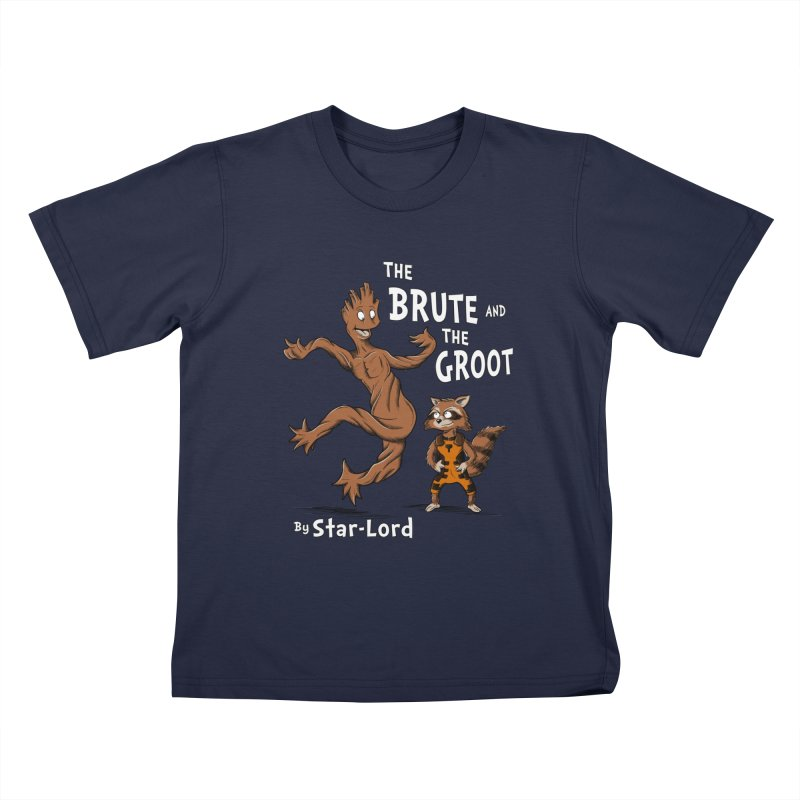 The Brute and The Groot Kids T-Shirt by Stephen Hartman Illustration Shop