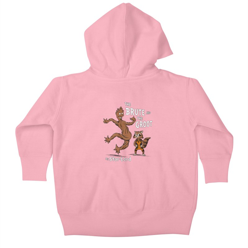 The Brute and The Groot Kids Baby Zip-Up Hoody by Stephen Hartman Illustration Shop