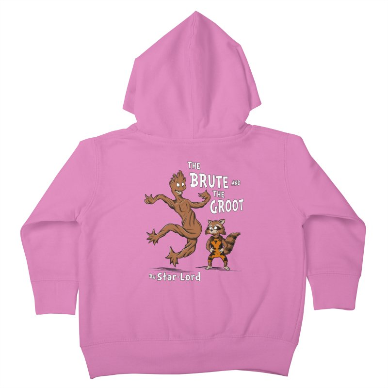 The Brute and The Groot Kids Toddler Zip-Up Hoody by Stephen Hartman Illustration Shop