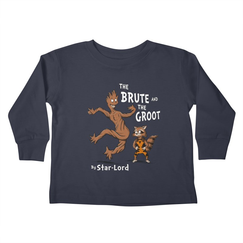 The Brute and The Groot Kids Toddler Longsleeve T-Shirt by Stephen Hartman Illustration Shop