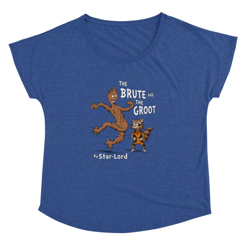 The Brute and The Groot Women's Dolman by Stephen Hartman Illustration Shop