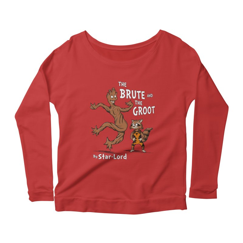 The Brute and The Groot Women's Longsleeve Scoopneck  by Stephen Hartman Illustration Shop